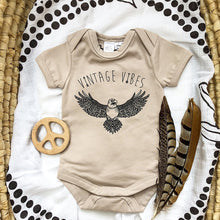 Load image into Gallery viewer, Vintage Eagle Onesie - Sand