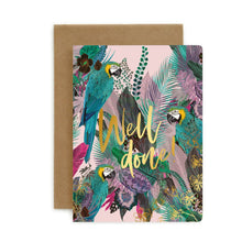 "Load image into Gallery viewer, Bespoke Letter Press ""Well Done"" Card"