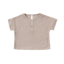 Load image into Gallery viewer, Rylee + Cru - Woven Henley Tee - Sand