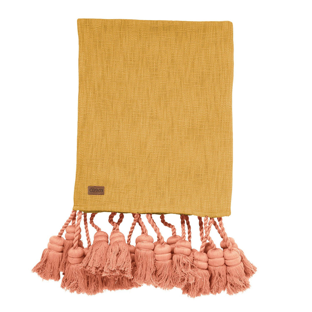 Kip & Co - Yolk Yellow  Tassel Throw