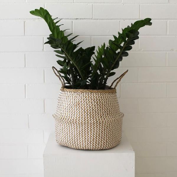 Barro Seagrass Basket- Natural/White Weave