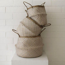 Load image into Gallery viewer, Barro Seagrass Basket- Natural/White Weave