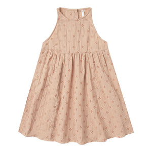 Rylee + Cru - Cross Embroidered Zoe Dress - Blush