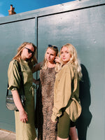 Safari trend collection - utility pockets, khaki and olive green's, animal prints, silk and cotton shirts