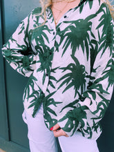 Load image into Gallery viewer, Palm Print Button Shirt