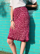 Load image into Gallery viewer, Midi Skirt in Pink Leopard Print