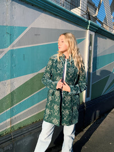 Dark Teal Velvet Coat