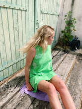 Load image into Gallery viewer, Cotton Summer Dress in Neon Green