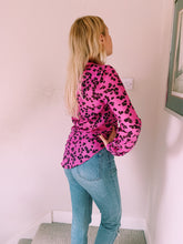 Load image into Gallery viewer, Button Front Shirt In Pink Print