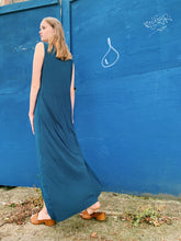 Load image into Gallery viewer, Silky Slip Dress In Navy
