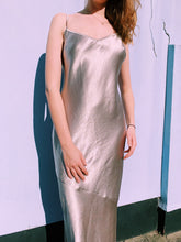 Load image into Gallery viewer, Maxi Silver Satin Slip