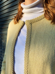 Light Yellow Knitted Cardigan