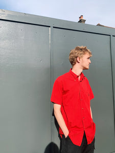 Short Sleeve Shirt In Bright Red