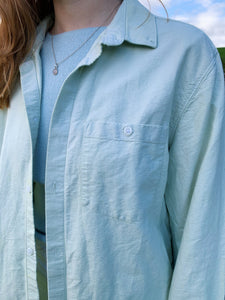 Mint Green Button Shirt