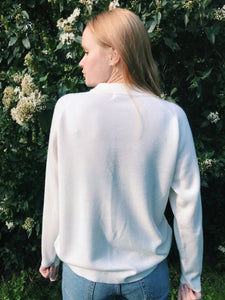 White High Neck Jumper