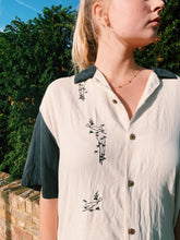Load image into Gallery viewer, Silk Button Shirt With Embroidery