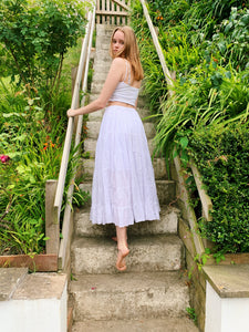 Tierd Maxi Skirt In White