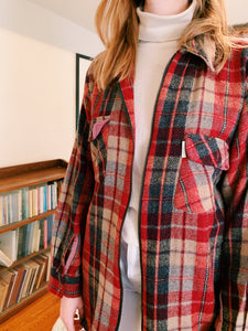 Checked Zip Front Jacket