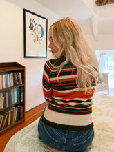 Load image into Gallery viewer, High Neck Stripe Knitted Jumper