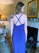Load image into Gallery viewer, Purple Cross Back Maxi Dress