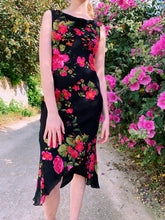 Load image into Gallery viewer, Cowl Neck Midi dress In Floral Print