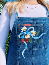 Load image into Gallery viewer, Denim Dungarees with Tie Back