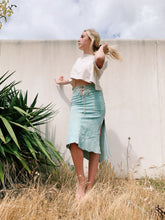 Load image into Gallery viewer, Suede Skirt In Sage Green