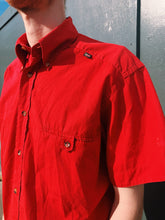 Load image into Gallery viewer, Short Sleeve Shirt In Bright Red