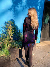 Load image into Gallery viewer, Black Star And Moon Print Dress