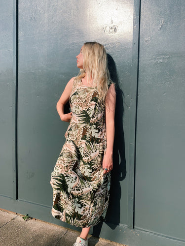 Maxi Safari Print Dress