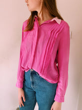 Load image into Gallery viewer, Contrast Pink Button Front Shirt