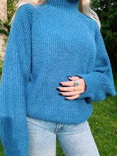Load image into Gallery viewer, Knitted Jumper In Blue