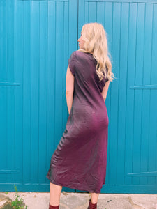 Wrap Dress In Petrol Purple