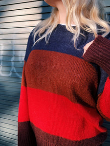 Wide Striped Knitted Jumper