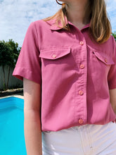 Load image into Gallery viewer, Retro Button Shirt In Dusky Pink