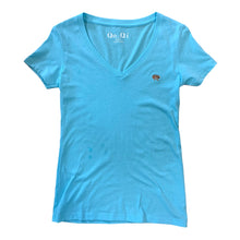 Load image into Gallery viewer, QoQí Aqua Blue V neck