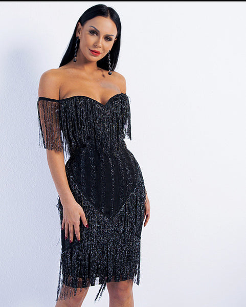 European and American evening dress 2020 new European and American sexy one-word shoulder flow su-sa powder elegant body-fitting jumpsuit hip skirt