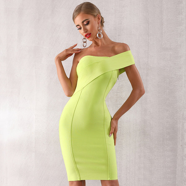 2020 new summer one-shoulder ladies strap dress sexy sleeveless tight club dress