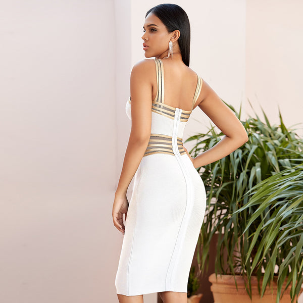 2020 new summer suspender lace bandage dress female sexy hollow bodycon dinner party long dress