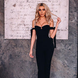 Sexy off shoulder bow women's tights bodysuit elegant black women's party BODYSUIT