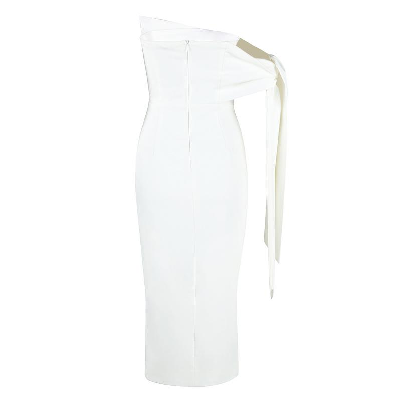 Natasha White Midi Dress