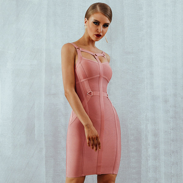 2020 summer new bandage skirt dress sexy sling off-shoulder dress women's bandage dresses