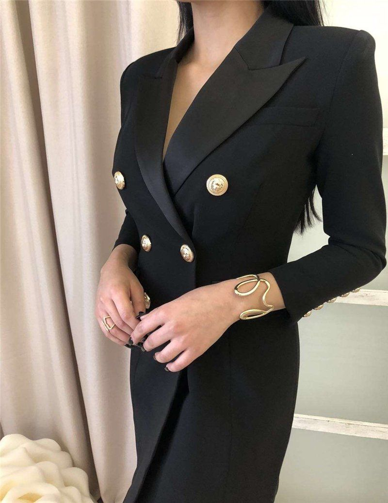 Vilma Black Blazer Dress