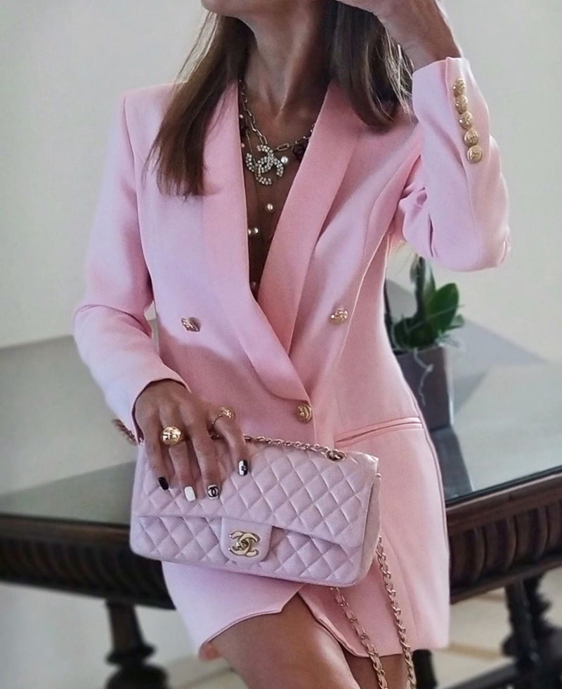 Noelle Pink Blazer Dress