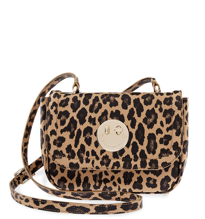 Hill & Friends Leopard Print Cross-Body Happy Bag