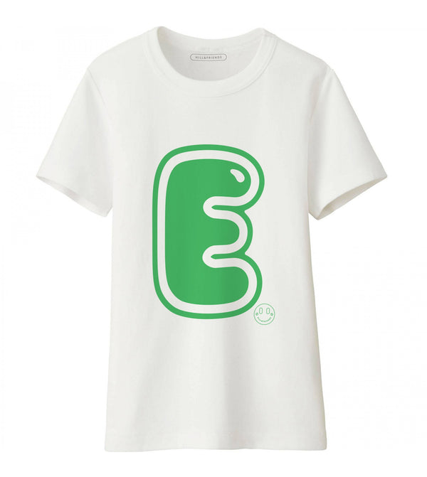 Hill & Friends Alphabet Printed T-Shirt in Green
