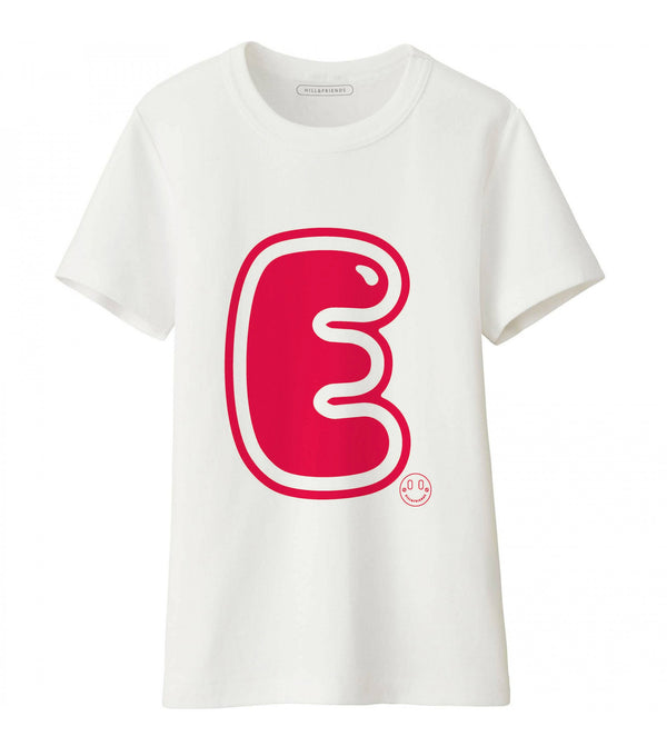 Hill & Friends Alphabet Printed T-Shirt in Red