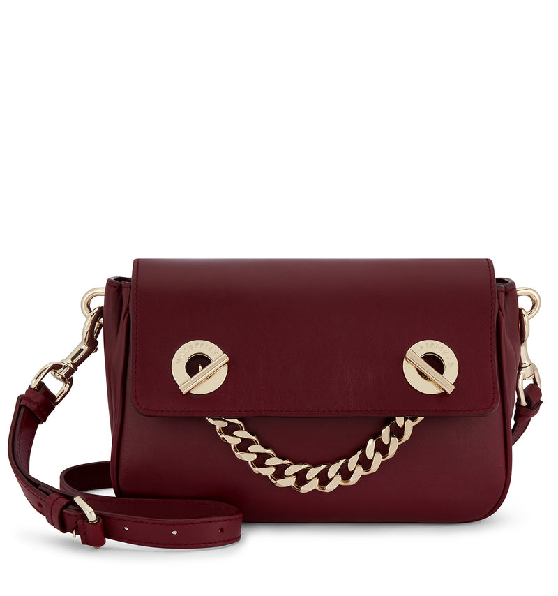 Hill & Friends Oxblood Chain Smile Creature Bag