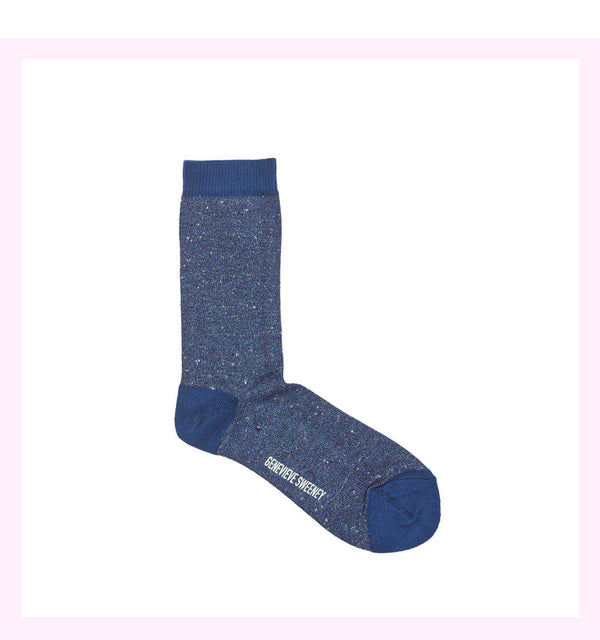 SOLLINE BLUE SPARKLY SOCKS