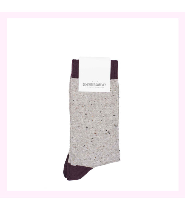SOLLINE GREY SPARKLY SOCKS